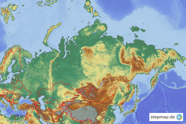 Stepmap Russland Leer Landkarte Fur Russland