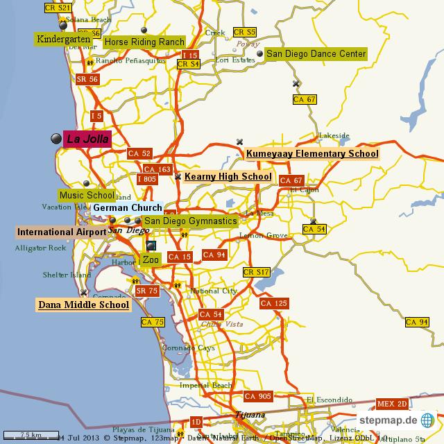 StepMap - San go family map - Landkarte für Welt on