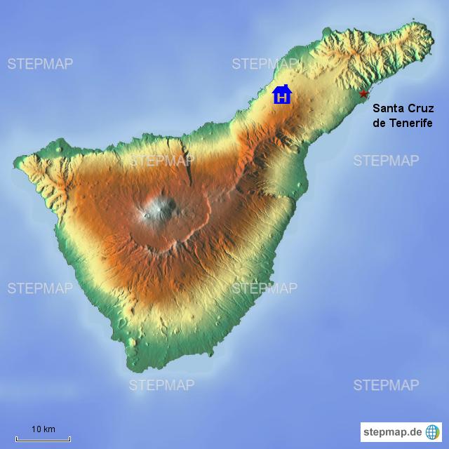 stepmap santa cruz landkarte f r spanien. Black Bedroom Furniture Sets. Home Design Ideas