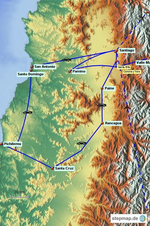 Stepmap Santiago De Chile Landkarte Für Deutschland
