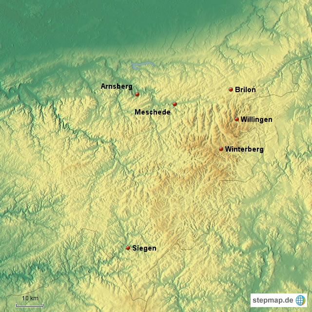 Sauerland Karte Deutschland.Stepmap Sauerland Landkarte Fur Deutschland