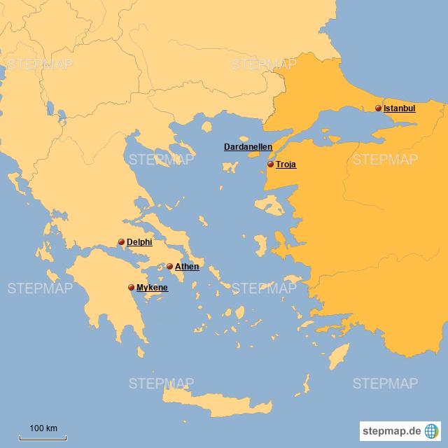 Stepmap Schlacht Um Troja Landkarte Fur Griechenland