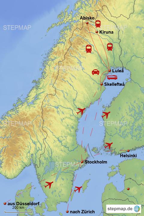stepmap schweden 2017 2018 landkarte f r schweden. Black Bedroom Furniture Sets. Home Design Ideas