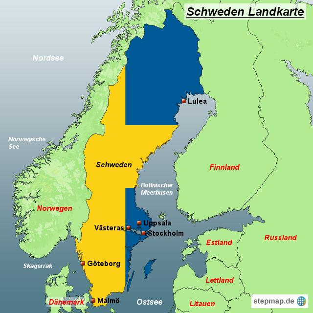 schweden landkarte StepMap   Schweden Landkarte   Landkarte für Schweden schweden landkarte