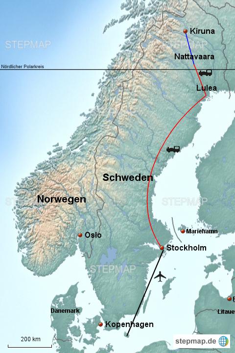 Lappland Karte.Stepmap Schweden Lappland Landkarte Für Europa