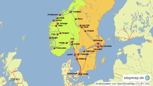 Karte Norwegen Schweden.Stepmap Schweden Norwegen 2012 Landkarte Für Deutschland