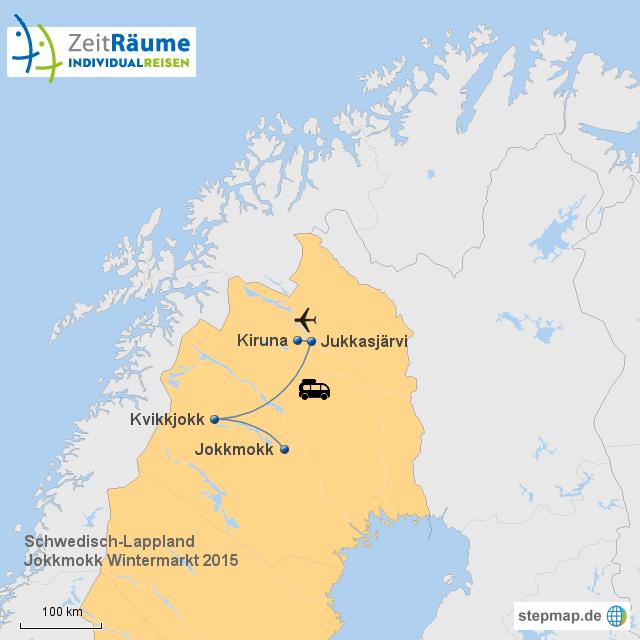 Lappland Karte.Stepmap Schwedisch Lappland Jokkmokk Wintermarkt 2015