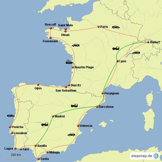 Andalusien Karte Spanien.Stepmap Schweiz Andalusien Bretagne Landkarte Für Spanien