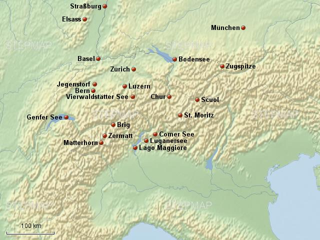Stepmap Schweiz Detail Landkarte Fur Schweiz