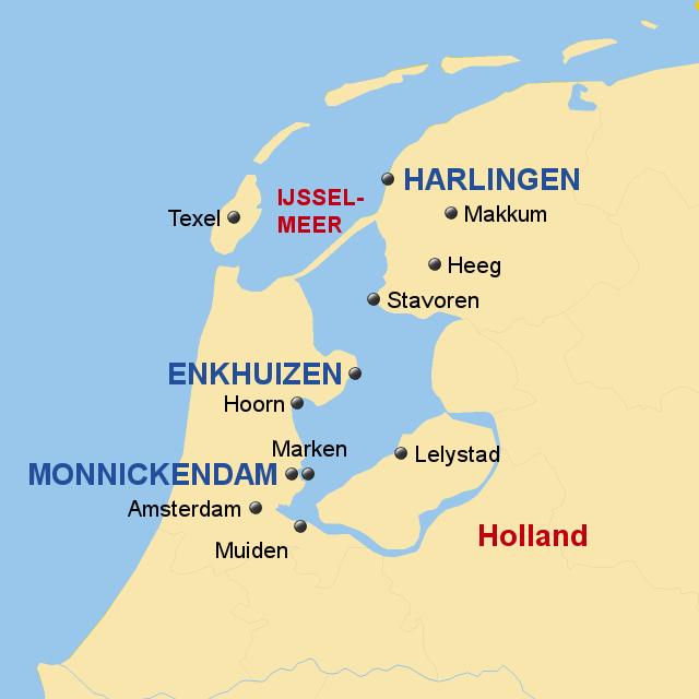 Niederlande Ijsselmeer Karte.Stepmap Segeltörn Ijsselmeer Landkarte Für Niederlande