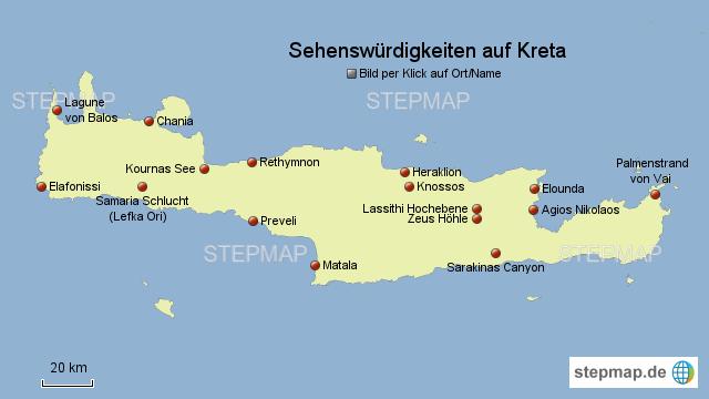 Sehenswürdigkeiten Großbritannien Karte.Stepmap Sehenswürdigkeiten Auf Kreta Landkarte Für Griechenland