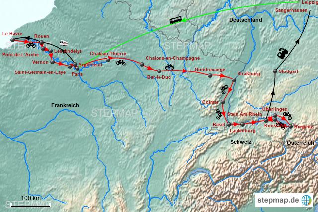 Stepmap Seine Bodensee 2018 Landkarte Fur Deutschland