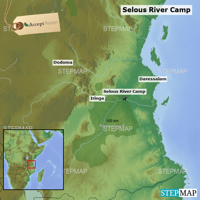 StepMap - Selous River Camp - Landkarte für Tansania
