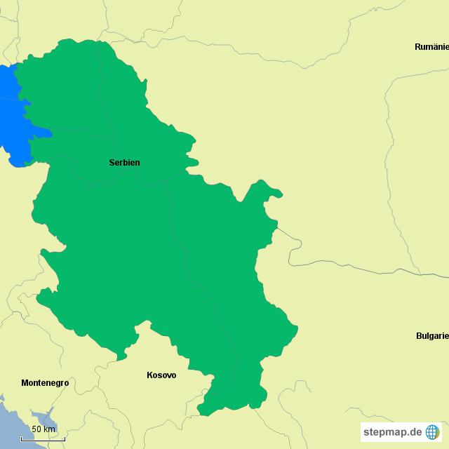 stepmap serbien kroatien landkarte f r deutschland. Black Bedroom Furniture Sets. Home Design Ideas