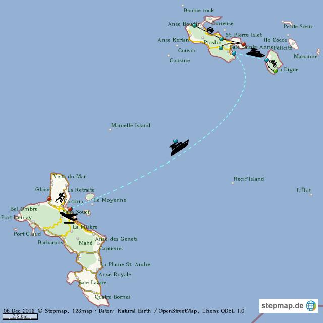 Karte Seychellen.Stepmap Seychellen 2012 13 Landkarte Fur Welt