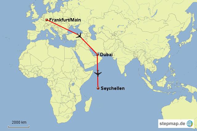seychellen landkarte StepMap   Seychellen Anreise   Landkarte für Deutschland seychellen landkarte