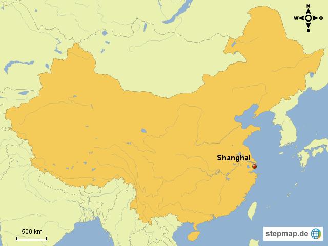 shanghai karte StepMap   Shanghai Lage China   Landkarte für China shanghai karte