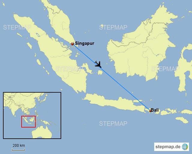 Bali Karte Asien.Stepmap Singapur Bali Landkarte Für Asien