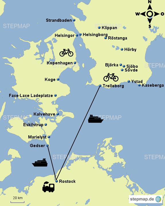 Karte Schweden Dänemark Deutschland.Stepmap Sommerurlaub Schweden Dänemark Landkarte Für Deutschland