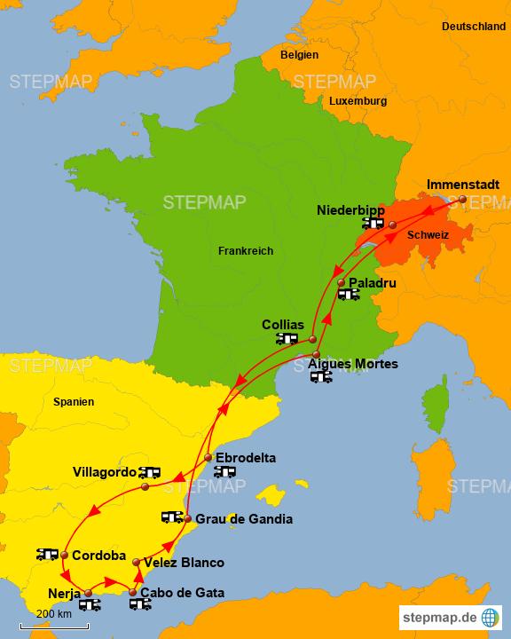 Andalusien Karte Spanien.Stepmap Spanien Andalusien Landkarte Für Spanien