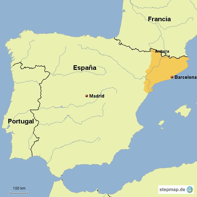 katalonien karte spanien StepMap   Spanien Barcelona/Katalonien   Landkarte für Spanien