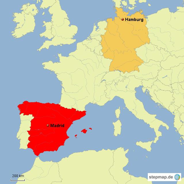 spanien deutschland karte StepMap   Spanien Deutschland   Landkarte für Deutschland