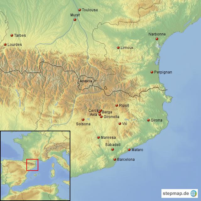 Spanien Katalonien Karte.Stepmap Spanien Katalonien Landkarte Für Spanien