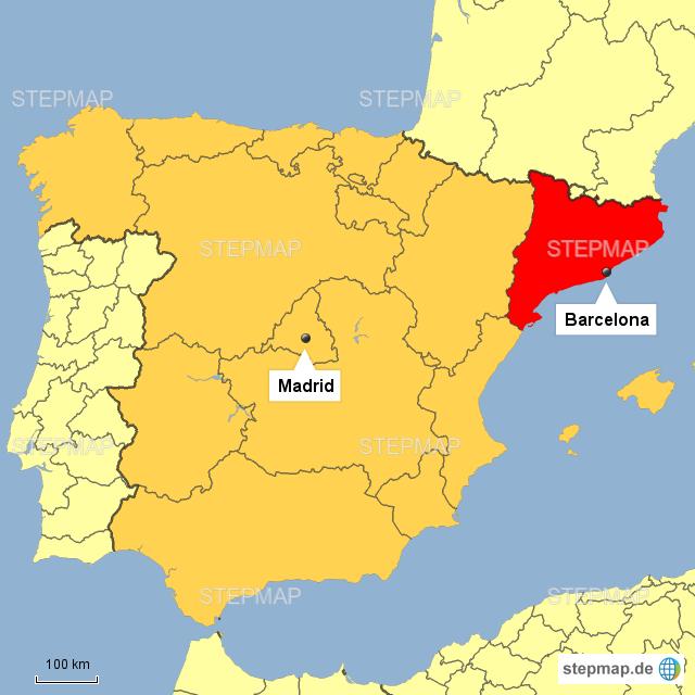 spanien katalonien karte StepMap   Spanien mit Katalonien   Landkarte für Deutschland