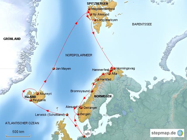 Island Reisen Kreuzfahrt
