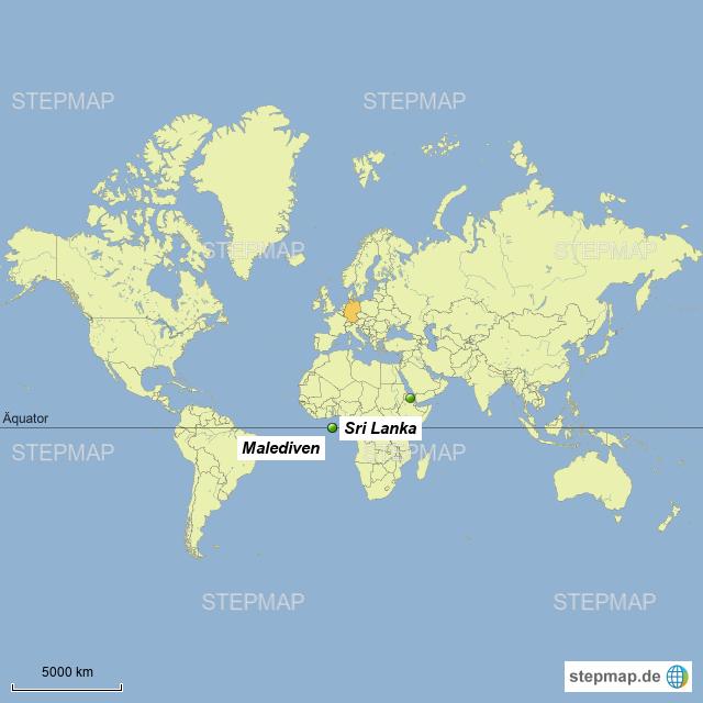 Malediven Karte Weltkarte.Stepmap Sri Lanka Malediven 2017 Landkarte Für Asien