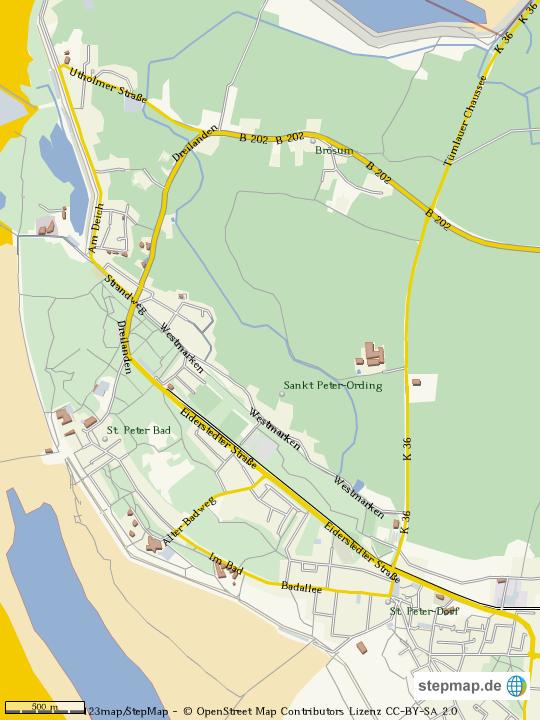 Sankt Peter Ording Karte.Stepmap St Peter Ording 2 Landkarte Für Deutschland