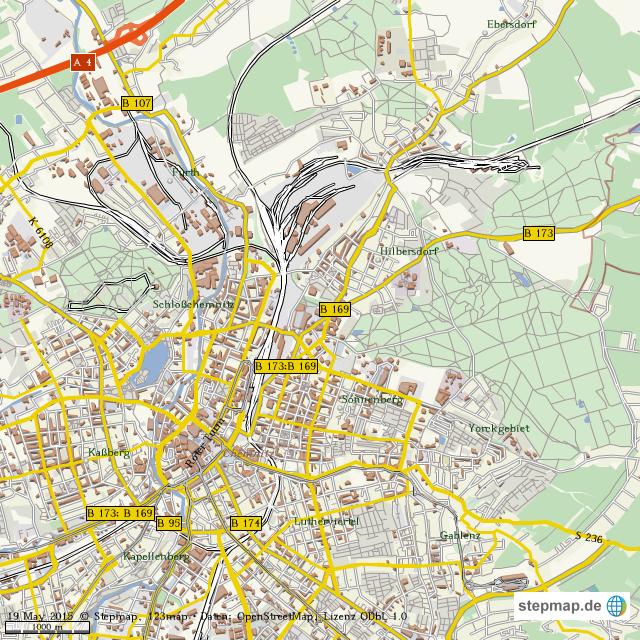 Karte Chemnitz.Stepmap Stadtplan Chemnitz Landkarte Fur Welt