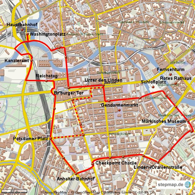 Berlin Mitte Karte.Stepmap Stadtrundfahrt Berlin Mitte Landkarte Für Deutschland