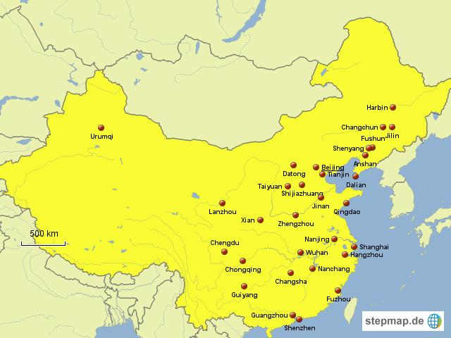 städte in china karte StepMap   Städte   China   Landkarte für China