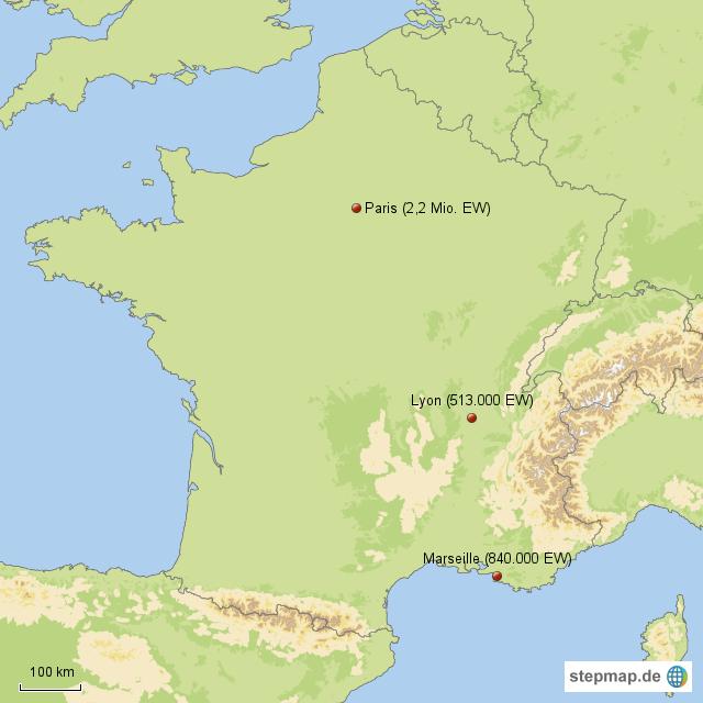stepmap st dte mit ber ew in frankreich landkarte f r frankreich. Black Bedroom Furniture Sets. Home Design Ideas