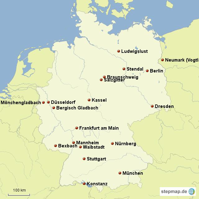 stepmap standorte von alstom deutschland f r meine praktikumsmappe landkarte f r deutschland. Black Bedroom Furniture Sets. Home Design Ideas