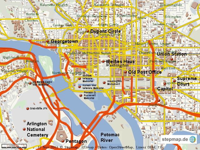 Washington Dc Karte.Stepmap Stdtplan Washington Dc Landkarte Für Welt