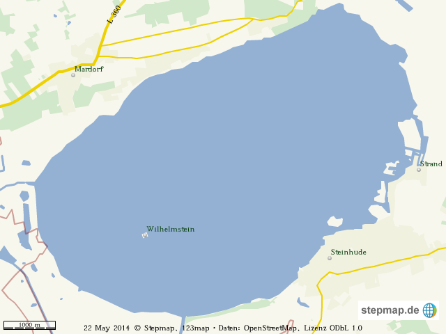 StepMap - Steinhuder Meer - Landkarte für Welt