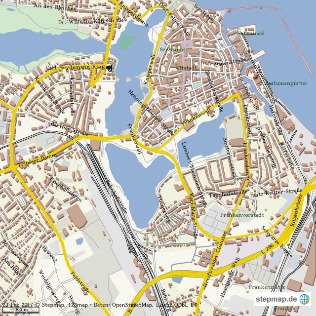 Stralsund Karte.Stepmap Stralsund Landkarte Für Welt