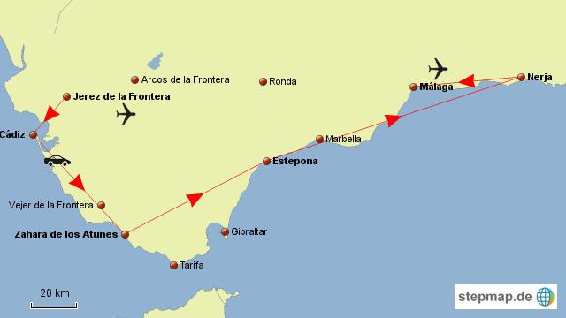Karte Von Andalusien Spanien.Stepmap Strand Hopping Andalusien Landkarte Für Spanien