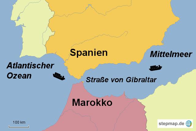 Meerenge Von Gibraltar Karte.Stepmap Strasse Von Gibraltar Landkarte Fur Deutschland