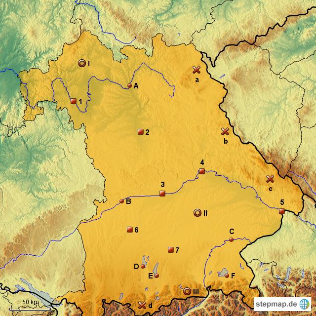 Bayern Karte.Stepmap Stumme Karte Bayern Landkarte Für Deutschland