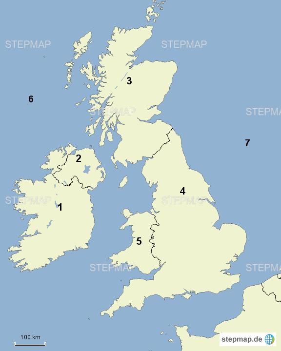 stumme karte britische inseln staaten nummeriert von flopf landkarte f r das vereinigtes. Black Bedroom Furniture Sets. Home Design Ideas