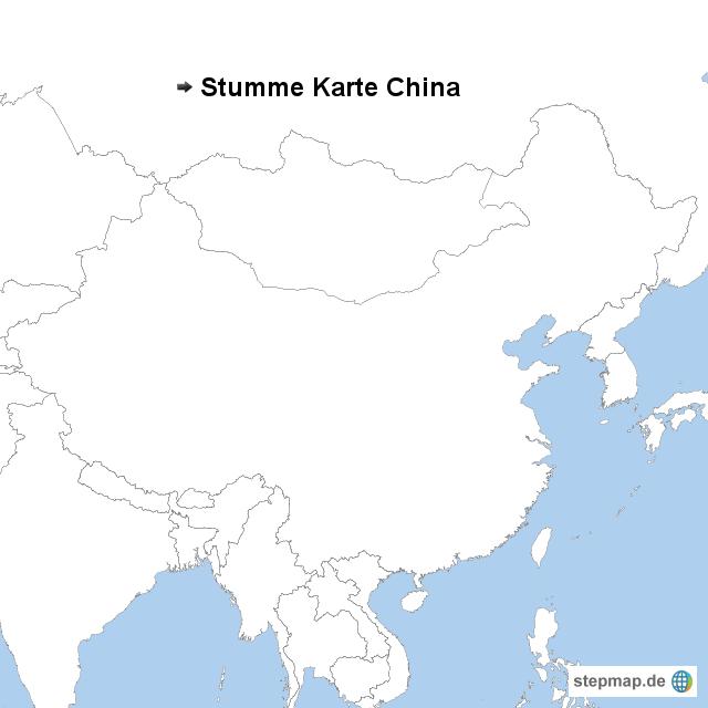 karte von china StepMap   Stumme Karte China   Landkarte für China karte von china