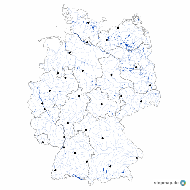 Stepmap Stumme Karte Dtl Landkarte Für Deutschland