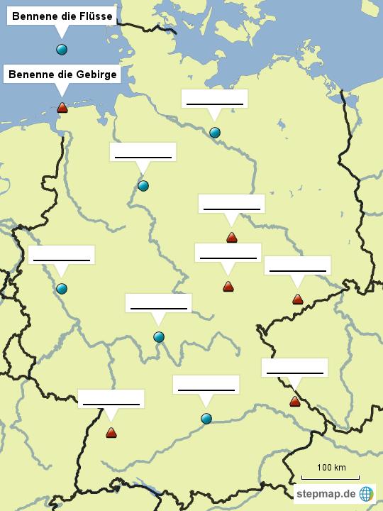 stepmap stumme karte deutschland 001 landkarte f r deutschland. Black Bedroom Furniture Sets. Home Design Ideas