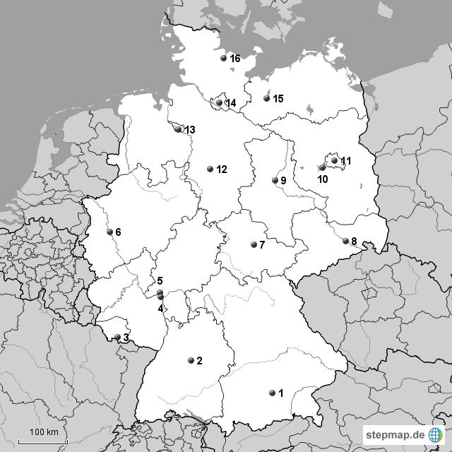 Stumme Karte.Stepmap Stumme Karte Deutschland Landkarte Fur Deutschland