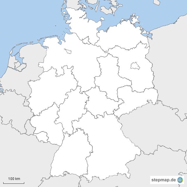deutschland stumme karte StepMap   Stumme Karte Deutschland   Landkarte für Deutschland