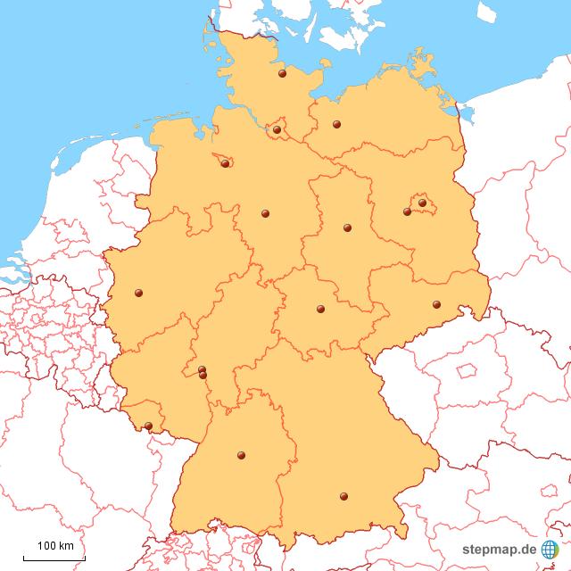 Stumme Karte Deutschland Bundesländer.Stepmap Stumme Karte Deutschland Landkarte Für Deutschland