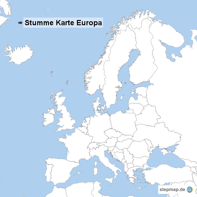 stumme karte europa StepMap   Stumme Karte Europa   Landkarte für Europa stumme karte europa